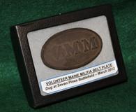 Original Civil War dug VMM plate, dug March 2012 at Seven Pines Battlefield