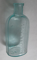 "Aqua-colored ""Ponds Extract"" bottle, ""1846 on bottom"