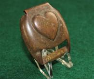 Civil War Brass Heart Saddle Buckle