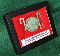 Civil War Two-piece Brass Eagle Belt Buckle, dug Petersburg