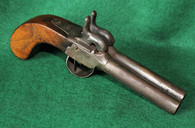 """Civil War Double barrel """"side by side"""" percussion boot pistol, as in Gettysburg Museum (SOLD,AH)"""