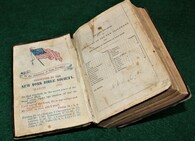 Presentation Bible from the New York Bible Society, March 1862, possible ID