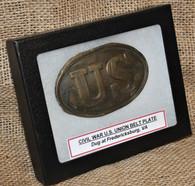 "Original Civil War ""US"" oval belt plate, dug at Fredericksburg, VA"