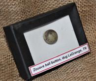 Original Civil War Brass Zouave Ball button, dug LaGrange, TN