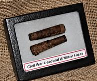 Two Original Civil War Artillery 4-second fuses