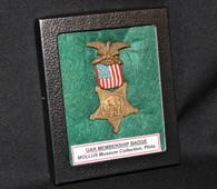 Civil War Veteran's GAR Medal from the MOLLUS Museum, Philadelphia