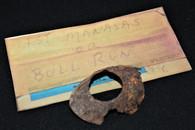 Civil War canteen collar from the 1st Manassas Battlefield