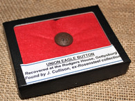 Eagle Button from Rogers House site on Emmitsburg Rd., Gettysburg