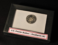"""Very early """"US"""" pewter button from Fort Johnston, NC"""