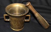 Early through mid-1850s heavy bronze Mortar and Pestle