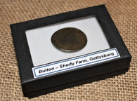 Brass button recovered from the Sherfy Farm, Gettysburg, ex-Rosensteel collection