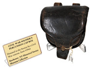 Civil War leather Percussion Cap Box, ex – Rochester Historical Society Museum (SOLD,BG)