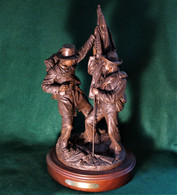 """Gettysburg Limited Edition Bronze statue """"Defending the Colors"""", by Ron Tunison"""