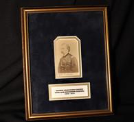 Rare framed original CDV image of General George Armstrong Custer