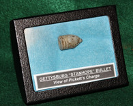 """Rare early Gettysburg souvenir, """"Stanhope Battlefield Bullet"""", Pickett's Charge (SOLD)"""
