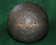 US/CS 12-pounder Cannonball recovered at Winchester, VA Battlefield (SOLD)