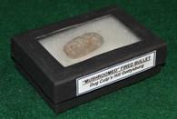 Original Civil War fired bullet recovered at Culp's Hill, Gettysburg (SOLD))