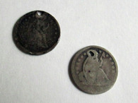 Two (2) Civil War era Dimes (SOLD)