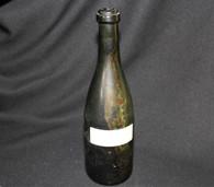 Civil War wine bottle recovered at a campsite in Richmond, VA