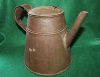 Original Civil War Tin Coffee Pot, as in period photographs
