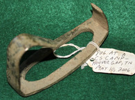 Section of a brass artillery stirrup dug at a CS site in Hoover's Gap, TN in 2006