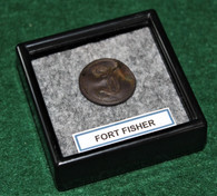 """Confederate Infantry Script """"I"""" button recovered at Ft. Fisher, NC"""