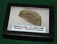 Union Breast Plate skin dug 2nd Corp camp Taneytown, Maryland