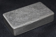 Identified Silver Snuff Box belonging to a Michigan soldier killed at Malvern Hill  (SOLD)