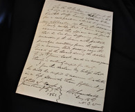 Civil War letter from New York Surgeon for disability of officer from cannon-blast