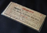 Original Confederate $1.00 Western & Atlantic Railroad currency, dated August 1,1862