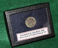 Civil War Soldier's ID disc, dug at Fredericksburg Battlefield