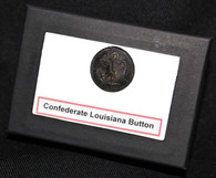 Original Confederate Louisiana Button, recovered in NC