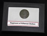 War of 1812 Regiment of Riflemen button, circa 1808 – 1820  (SOLD)