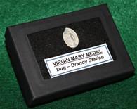 Medal of Virgin Mary recovered at Brandy Station, VA Battlefield