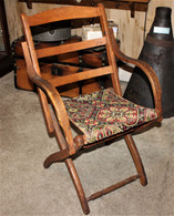 Civil War Folding Camp Armchair, as seen with General Grant and General Burnside  (SOLD)