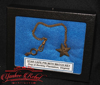 Star Cape Pin / Watch Fob Star Charm and Chain, dug Berkeley Plantation
