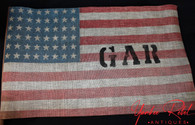 Original GAR Parade Stick Flag, circa 1912