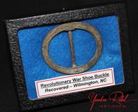 Revolutionary War shoe buckle, c. 1775, dug Wilmington, NC (SOLD)