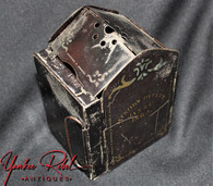 Civil War Pocket Folding Candle Lantern dated,  made by J.A. Minor of Middletown, CT