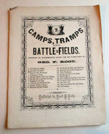 "Civil War Sheet Music, ""Camps, Tramps and Battlefields"", 1865"