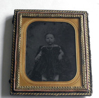 1/6 Plate Ambrotype of little girl