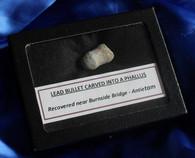 Carved Phallus bullet, Burnside Bridge, Antietam, 1980s (SALE)