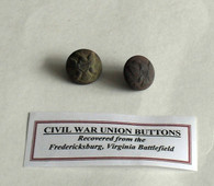 Buttons recovered at Fredericksburg