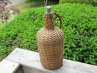 Civil War era Rattan Wine Bottle, as in Gettysburg Museum