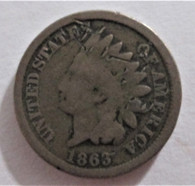 "Civil War Cent, dated ""1863"""