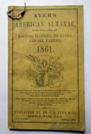 "Pamphlet, ""Ayer's American Almanac - 1861"""