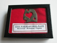 Soldiers Brass Heart Heel Plate (SOLD)