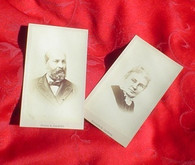 CDV Images of President Garfield and wife (SOLD,MG)