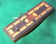 Civil War soldier's folding Cribbage Board
