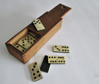 Cased set of original Civil War soldier's dominos (SOLD)